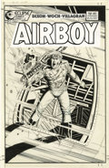 Original Comic Art:Covers, Stan Woch - Airboy #40 Cover Original Art (Eclipse, 1988). Abazooka-toting Airboy faces a volley of enemy fire, in this act...