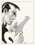 Original Comic Art:Covers, Mike Zeck - The Punisher: Return to Big Nothing Trade Paperback Cover Original Art (Marvel, 1989). Frank Castle means busine...