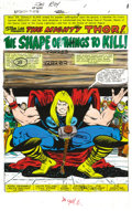 Original Comic Art:Miscellaneous, George Roussos - Thor #302 Color Guide, Group of 21 (Marvel, 1980).The spectacular splendor of the world of the mighty Thor... (Total:21 Items)