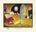 "Original Comic Art:Paintings, Carl Barks - ""Visitor From Underground"", Gold Plate EditionMiniature Lithograph, numbered 69/100 (Another Rainbow, 1991). T..."