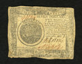 Colonial Notes:Continental Congress Issues, Continental Currency September 26, 1778 $7 Very Fine. A littleroughness is noticed on the bottom margin into the design on ...
