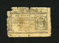 Colonial Notes:New York, New York February 16, 1771 £1 Good. This scarce note with edgetrauma has been backed....