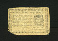 Colonial Notes:New York, New York August 13, 1776 $1/16 Fine. Edge wear is noticed on thisexample....