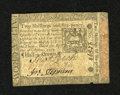 Colonial Notes:Pennsylvania, Pennsylvania October 1, 1773 2s/6d Extremely Fine-About New. Onecenter fold is seen on this example that has a small notch ...