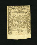 Colonial Notes:Rhode Island, Rhode Island May 1786 3s Choice New. A boldly printed and very wellembossed example of this popular final Rhode Island issu...