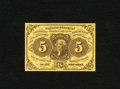 Fractional Currency:First Issue, Fr. 1230 5c First Issue Gem New. A very well margined and wonderfully centered example of this first issue type that has sup...