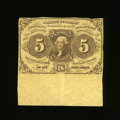 Fractional Currency:First Issue, Fr. 1230 5c First Issue About New. A huge amount of selvedge lies below this delightful note that has a center fold. A coupl...