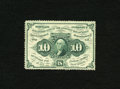 Fractional Currency:First Issue, Fr. 1240 10c First Issue Very Choice New. Gem margins encircle the frame on this very scarce with monogram perforated variet...