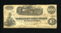 Confederate Notes:1862 Issues, T39 $100 1862. Top edge furling is noticed. Very Good....