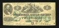 Confederate Notes:1862 Issues, T43 $2 1862. A single pinhole is noted on this boldly signed andstill colorful Fine deuce....