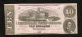 Confederate Notes:1862 Issues, T52 $10 1862. Light circulation has engaged this Ten. ExtremelyFine....