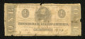Confederate Notes:1863 Issues, T62 $1 1863. The edges are missing small pieces. Good....