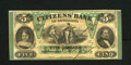 Obsoletes By State:Louisiana, New Orleans, LA- Citizens' Bank of Louisiana $5 Oct. 9, 1860. President Millard Fillmore's portrait is found on this well pr...