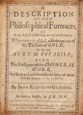 Books:Science & Technology, Johann Rudolph Glauber. A Description of New Philosophical Furnaces, Or A new Art of Distilling, divided into five...
