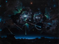 Pulp, Pulp-like, Digests, and Paperback Art, ADOLF SCHALLER (American, b. 1956). Cosmic Phenomena (ForgePainting). Acrylic and airbrush on board. 29.75 x 39.75 in....(Total: 2 Items)