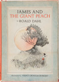 Books:Children's Books, Roald Dahl. James and the Giant Peach. New York: Alfred A.Knopf, [1961]. First edition, first issue with the five l...