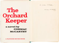 Cormac McCarthy. The Orchard Keeper. New York: Random House, [1965]. First edition of the au