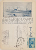 Autographs:Inventors, Orville Wright Postcard Signed....