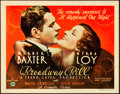 "Movie Posters:Drama, Broadway Bill (Columbia, 1934). Title Lobby Card (11"" X 14"").. ..."