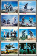 "Movie Posters:Science Fiction, Godzilla vs. Megalon (Toho, 1973). Japanese Lobby Card Set of 8(11"" X 14.25""). Science Fiction.. ... (Total: 8 Items)"