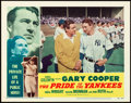 "Movie Posters:Sports, The Pride of the Yankees (RKO, R-1949). Lobby Card (11"" X 14"").. ..."