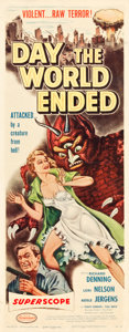 """Movie Posters:Science Fiction, Day the World Ended (American Releasing Corp., 1956). Insert (14"""" X36"""").. ..."""