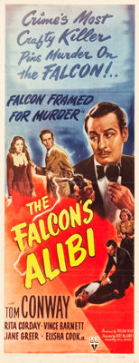 "The Falcon's Alibi (RKO, 1945). Insert (14"" X 36"")"