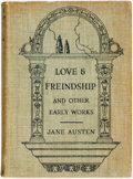 Books:Literature Pre-1900, Jane Austen. Love & Friendship and Other Early Works.New York: Frederick A. Stokes, [1922]. Second printing. Twelve...