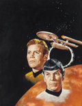 Pulp, Pulp-like, Digests, and Paperback Art, JACK THURSTON (American, 20th Century). Star Trek: The FinalFrontier, STARLOG #1 magazine cover, August 1976. Gouache o...(Total: 2 Items)