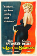 "Movie Posters:Film Noir, The Lady from Shanghai (Columbia, 1947). One Sheet (27"" X 41"")....."