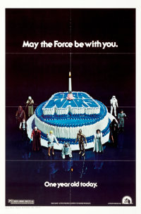 "Star Wars (20th Century Fox, 1978). One Sheet (27"" X 41"") Birthday Cake Style"
