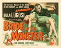 "Movie Posters:Horror, Bride of the Monster (Filmmakers Releasing, 1956). Half Sheet (22""X 28"").. ..."