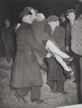 Photographs, WEEGEE (American, 1899-1968). Untitled (Woman Carried by Policemen), circa 1940. Vintage gelatin silver. 9-1/2 x 7-1/2 i... (Total: 2 )