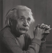 YOUSUF KARSH (Canadian, 1908-2002) Albert Einstein, 1948 Gelatin silver, printed later 11 x 10-5/