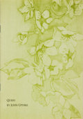 Books:Literature 1900-up, John Updike. SIGNED/LIMITED. Query. [New York]: AlbondocaniPress, [1974]. One of 400 copies signed by Updike. T...