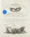 Autographs:U.S. Presidents, Andrew Johnson Military Appointment Signed....