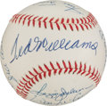 Autographs:Baseballs, Circa 1990 500 Home Run Club Baseball, PSA/DNA Mint 9....