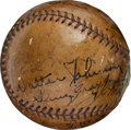 Autographs:Baseballs, 1932 Washington Senators & Others Multi Signed Baseball with Walter Johnson....