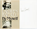 Books:Biography & Memoir, Lauren Bacall. SIGNED. By Myself. New York: Knopf, 1979. First edition. Signed by the author. Publisher's cloth ...