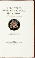 Books:Literature 1900-up, Sudhin N. Ghose. Folk Tales and Fairy Stories from India.With illustrations by Shrimati E. Carlile. London: Golden ...