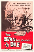"""Movie Posters:Horror, The Brain That Wouldn't Die (American International, 1962). One Sheet (27"""" X 41"""").. ..."""