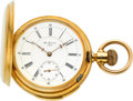 Timepieces:Pocket (pre 1900) , Jules Montandon Swiss 18k Gold Minute Repeater, circa 1890. ...
