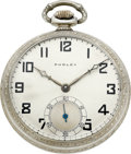 Timepieces:Pocket (post 1900), Dudley Watch Co. Model No. 2 Masonic Watch No. 4439, circa 1930's....
