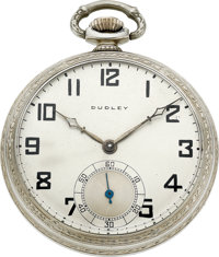 Dudley Watch Co. Model No. 2 Masonic Watch No. 4439, circa 1930's