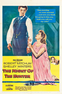 "The Night of the Hunter (United Artists, 1955). One Sheet (27"" X 41"")"