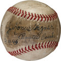 Autographs:Baseballs, 1946 J. Honus Wagner Single Signed Baseball....