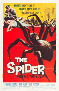 "The Spider (American International, 1958). One Sheet (27"" X 41""). Horror"
