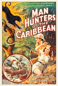 "Man Hunters of the Caribbean (Inter Continent, 1938). One Sheet (27.5"" X 41"")"