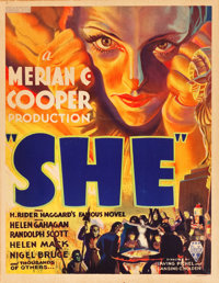 "She (RKO, 1935). Window Card (14"" X 18"")"