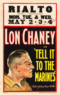 """Tell it to the Marines (MGM, 1926). Window Card (14"""" X 22"""")"""